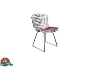 1:6 Miniature Side Chair - Harry Bertoia in White Strong & Flexible