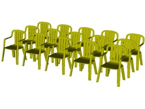 1/35 scale plastic chairs set x 15 in Smooth Fine Detail Plastic