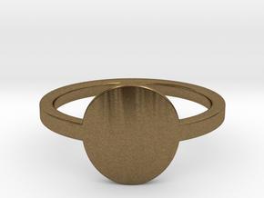 Small Circle Midi Ring in Natural Bronze