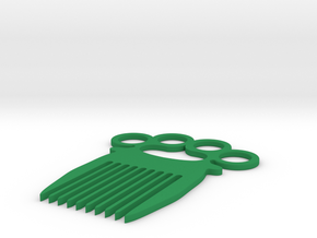 Knuckle-duster/Comb in Green Strong & Flexible Polished