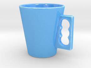 Cone Mug in Gloss Blue Porcelain
