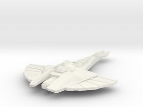 Cardassian Reklar Class  BattleCruiser in White Natural Versatile Plastic