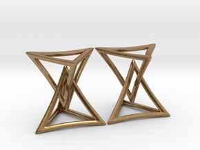 Changing Geometry Earrings in Natural Brass (Interlocking Parts)