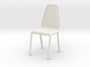 1:24 Vinyl Stacking Chair in White Strong & Flexible: 1:48 - O