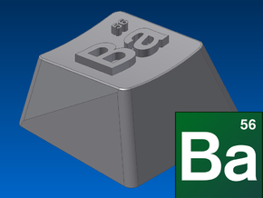 "Breaking Bad - ""Ba"" Keycap (R1, 1x1) in White Strong & Flexible"