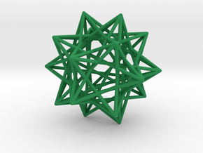 Ten Tetrahedra in Green Strong & Flexible Polished