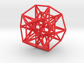 Polyhedron 666 in Red Processed Versatile Plastic
