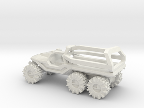 All-Terrain Vehicle 6x6 with Roll Over Protection  in White Natural Versatile Plastic