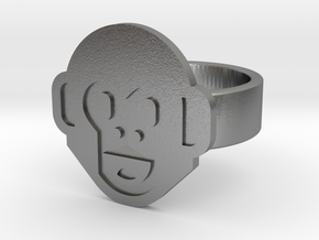 Monkey Ring in Natural Silver: 8 / 56.75