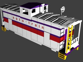 Auto-Train (ATC) Caboose in Smooth Fine Detail Plastic