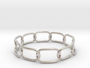 Chained Bracelet 68 in Rhodium Plated Brass