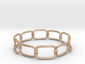 Chained Bracelet 75 in 14k Rose Gold Plated Brass