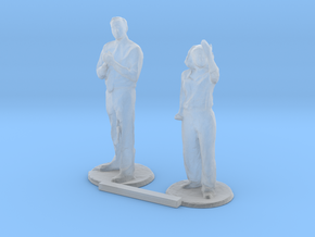 S Scale People Standing 3 in Smooth Fine Detail Plastic