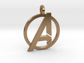Avengers Keychain in Natural Brass
