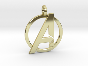 Avengers Keychain in 18k Gold Plated Brass