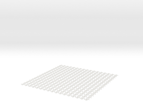 Spaghetti-Patterned Mat in White Strong & Flexible