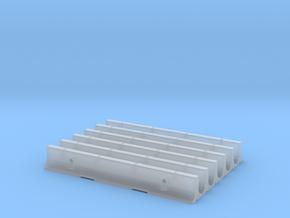 20' CalTrans Type K-Rail Concrete Barrier (6) in Smooth Fine Detail Plastic