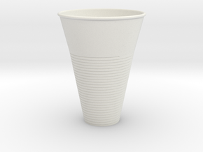 Plastic Cup in White Strong & Flexible