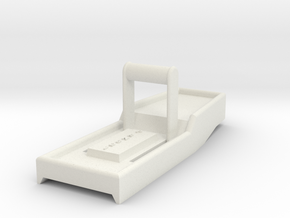 1/24 Scale Center Console (Ratchet Shifter) in White Natural Versatile Plastic