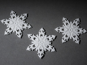 Floralflake Set in White Natural Versatile Plastic