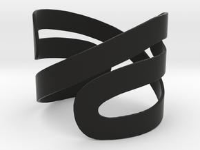 BRACELET NEVER ENDING in Black Natural Versatile Plastic