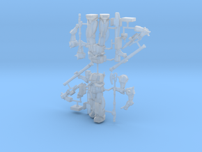 1:500 MS-06K Zaku Cannon in Smooth Fine Detail Plastic