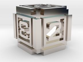 Cubic D6 - 16mm die in Platinum