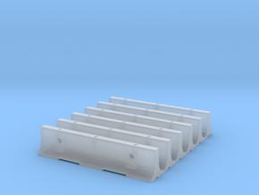 "12'6"" K-Rail Concrete Barrier (6) in Smooth Fine Detail Plastic"