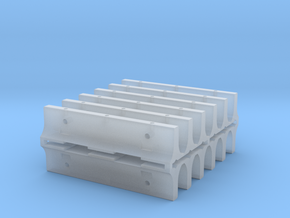 "12'6"" K-Rail Concrete Barrier (12) in Smooth Fine Detail Plastic"