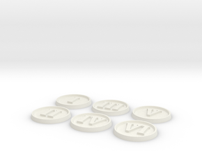 Objective Markers - Numerals in White Natural Versatile Plastic