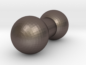 3mm Ball Joint in Polished Bronzed Silver Steel