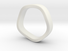 K 7.2mm Flat Band in White Natural Versatile Plastic