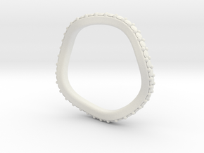 Leslie 2mm Flush Band in White Strong & Flexible