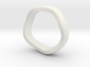 K 7.2mm Puffed Band in White Strong & Flexible