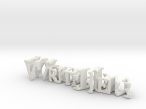 3dWordFlip: WriteHere/RightNow in White Strong & Flexible