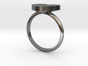 Heart Ring in Polished Silver