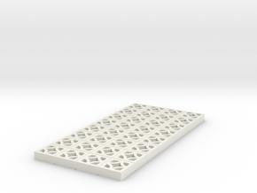1/25 Breezeblock B 4x8 panel in White Natural Versatile Plastic