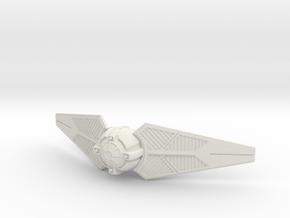 TIE Predator in White Natural Versatile Plastic