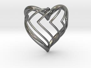 HEARTAO RAINBOW in Fine Detail Polished Silver