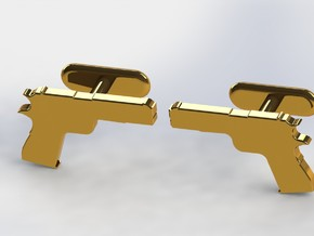 1911 CUFFLINKS in Polished Bronzed Silver Steel