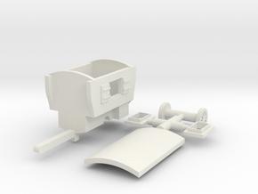 Schäferwohnwagen - 1:120 (TT scale) in White Natural Versatile Plastic