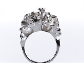 floraform | Cnidaria Ring in Polished Silver: 7 / 54