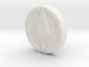 Ares Pistol Grip Medallion in White Natural Versatile Plastic
