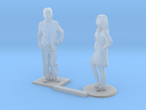 O Scale Standing Kids 9 in Smooth Fine Detail Plastic