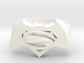 SuperMan Vs Batman Size 11 in White Processed Versatile Plastic