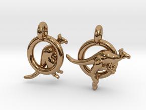 Kangaroos in Polished Brass