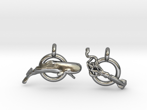 Whale V Squid earrings in Polished Silver