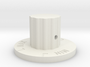 Flow Level Knob in White Natural Versatile Plastic
