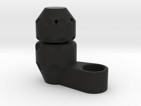 """ECM Boring Cap Set - 0.75"""" x 0.1875"""" - 3/8"""" NPT in Black Natural Versatile Plastic"""