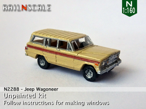 Jeep Wagoneer (N 1:160) in Smooth Fine Detail Plastic